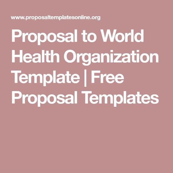 Proposal to World Health Organization Template Free Proposal - dsi security officer sample resume
