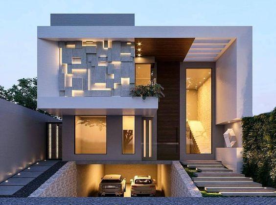 The Best Bungalow Interior Design In The Popular Architecturian Modern House Facades Duplex House Design Modern House Design