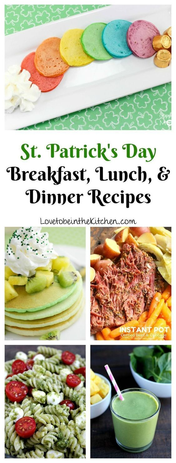Recipes for breakfast, lunch and dinner on St. Patrick's Day - I love being in ...