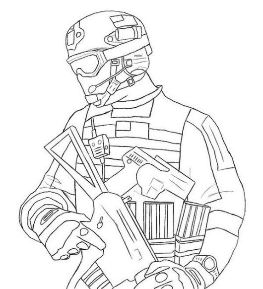 Modern Warfare 3 Mw3 Call Of Duty Coloring Sheet Military Drawings Call Of Duty Soldier Drawing