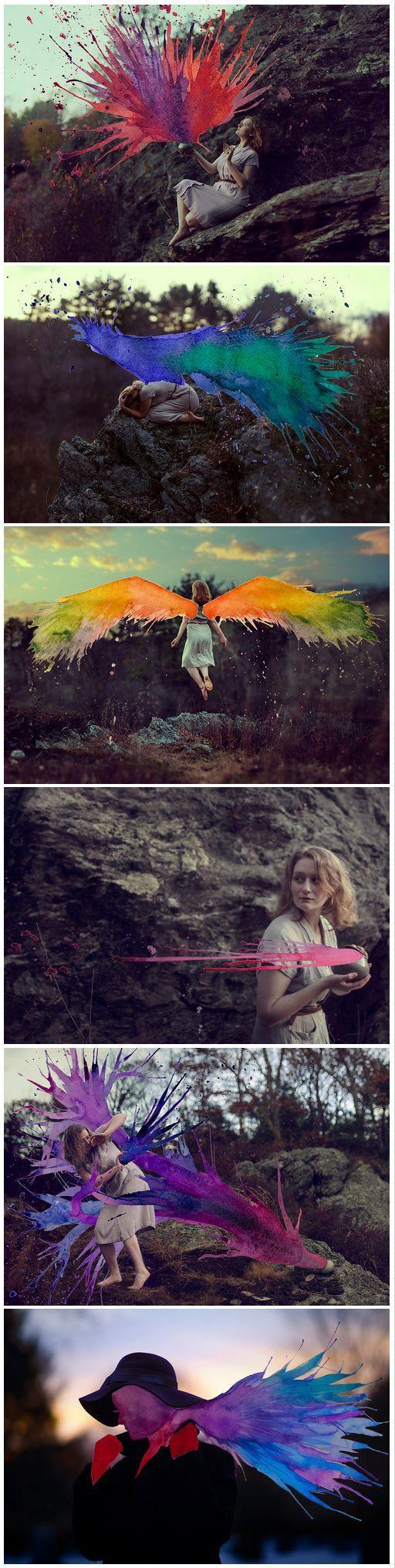 Mixed Media Photography by Aliza Razell                                               I got Dragon Wings