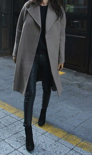 grey coat fall 2014 winter automne hiver manteau gris