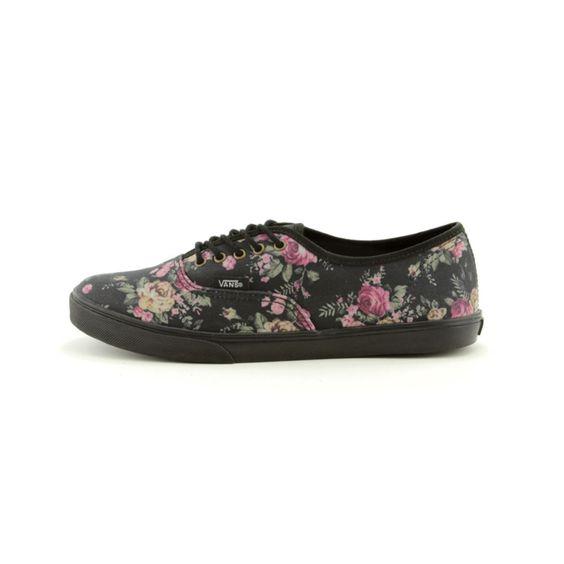 Vans Authentic Lo Pro Skate Shoe - Black/Floral