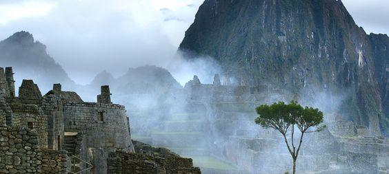 Mist at Machu Picchu