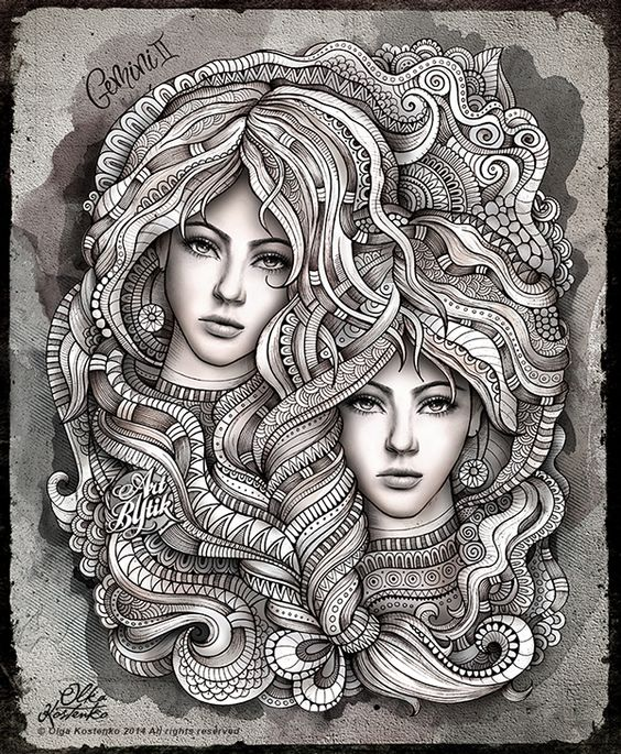 """GEMINI"" on Behance  ( I am a Gemini  !):"