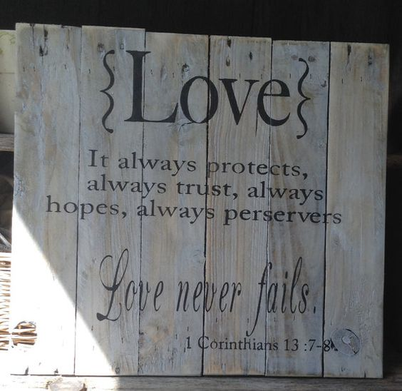 Love never fails fails and pallet art on pinterest for How do you spell pallets