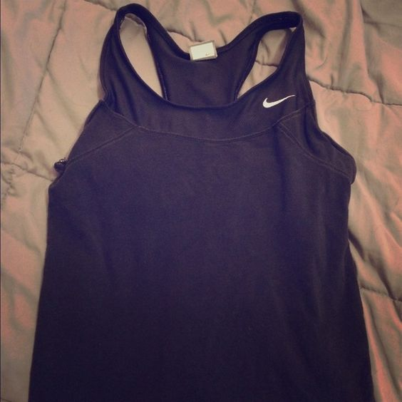 Nike workout top Workout top with mesh detail and built in bra Nike Tops Tank Tops