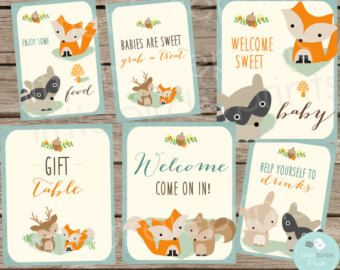 Winter WOODLAND Baby Shower Decorations By Littlebirdieprints | Baby Shower  | Pinterest | Woodland Baby Showers, Woodland Baby And Decoration