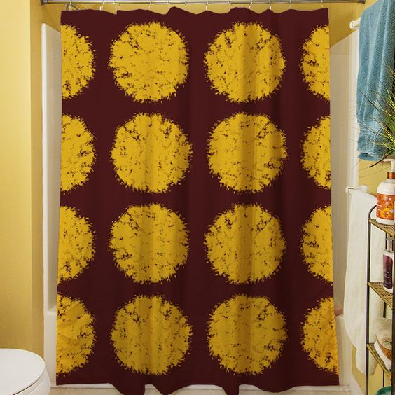 Fuzzy Dots Shower Curtain