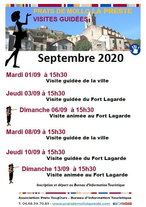 Visites Guidées Septembre 2020 Visite Guidée Visite Fort