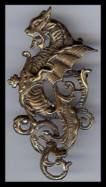 brass dragon pin