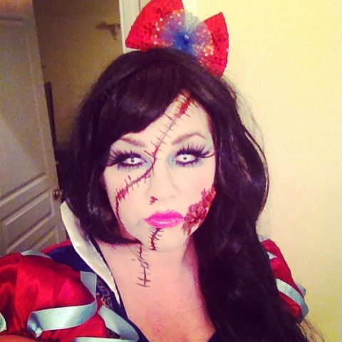 Halloween 2013. Zombie Snow White. Scars. Stitches | Just call me ...