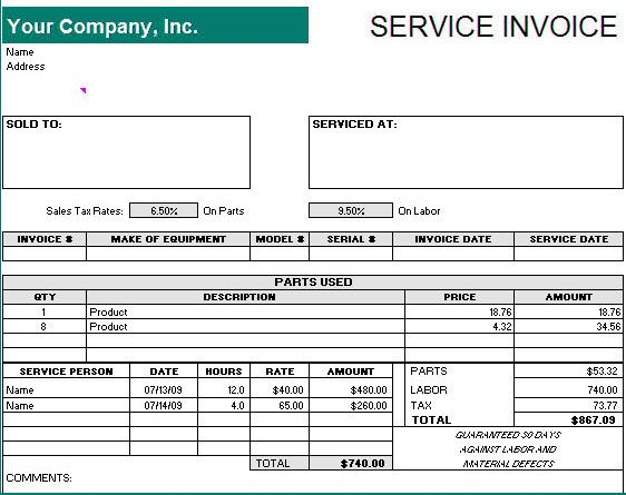 Get Bill Receipt Template in Word Format WordTemplateInn Excel - Invoice Template Excel 2010