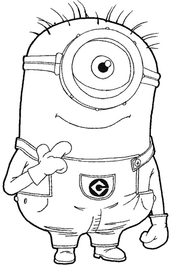 printable the minions dave coloring page for kids.free online print ...