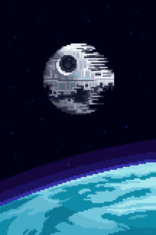 it8Bit — Death Star II in Orbit Over Endor    Gif...