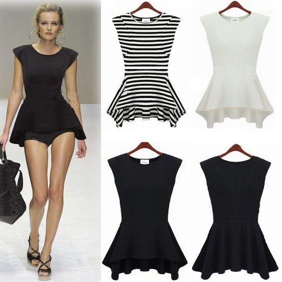 Ruffles Asymmetrical Dresses