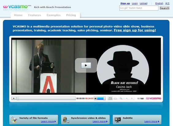 Sharing presentations online