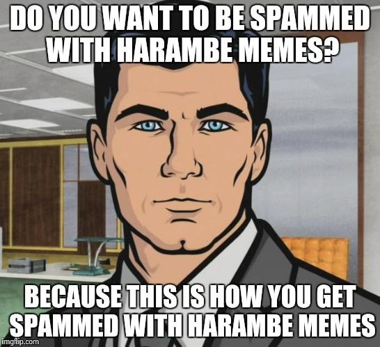 "After hearing University of Massachusetts is threatening to write up those who use Harambe memes as ""racist"" against African-Americans and as Title IX incidents"
