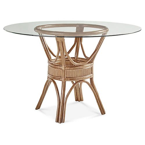 Bermuda Rattan Round Dining Table Natural Rattan Dining Table