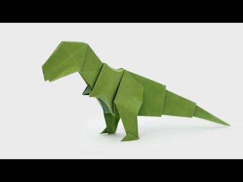 花 折り紙 折り紙 恐竜 簡単 : jp.pinterest.com