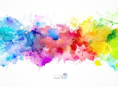 Multicolored Splash Background Illustration Vector 04 Pop Art