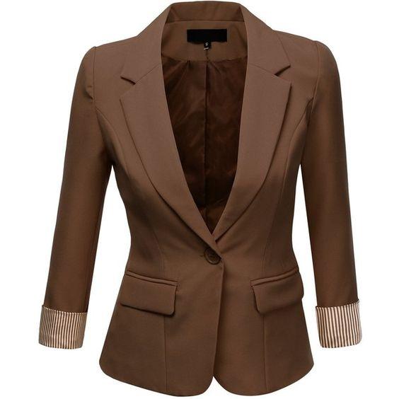 Womens Brown Suit Jacket