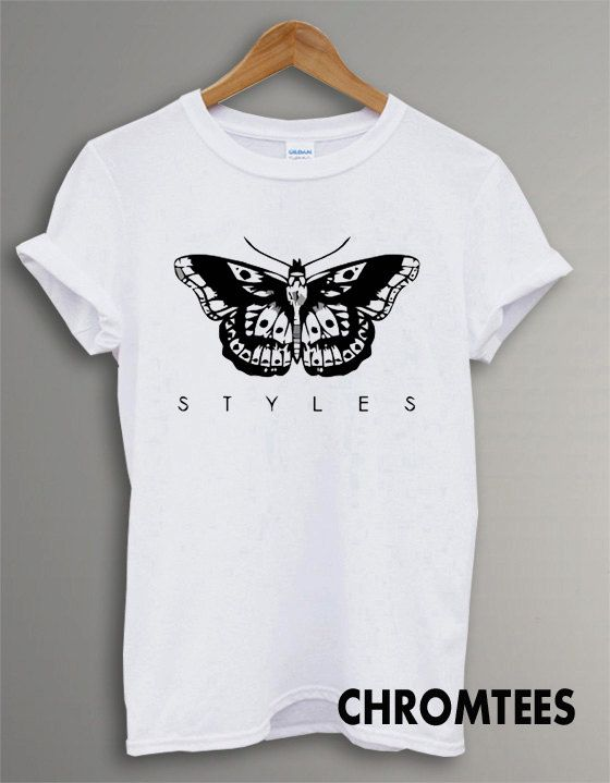 one direction shirt 1D t-shirt harry styles tatto tshirt printed white unisex size (CR-32)