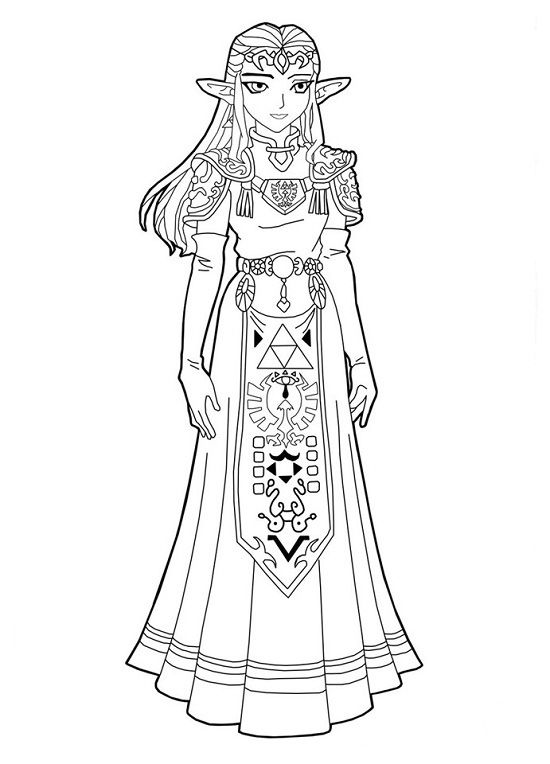Free Printable Zelda Coloring Pages For Kids Mermaid Coloring Pages Coloring Pages Free Coloring Pages
