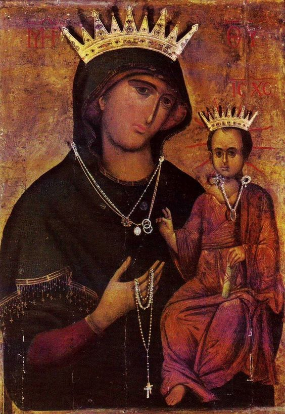 Madonna della Pace, Venezia  This Byzantine icon is venerated as the Madonna of Peace.It is considered miraculous and was brought to Venice from Constantinople in 1349. The painting has been kept in the church of SS. Giovanni and Paolo since 1806.
