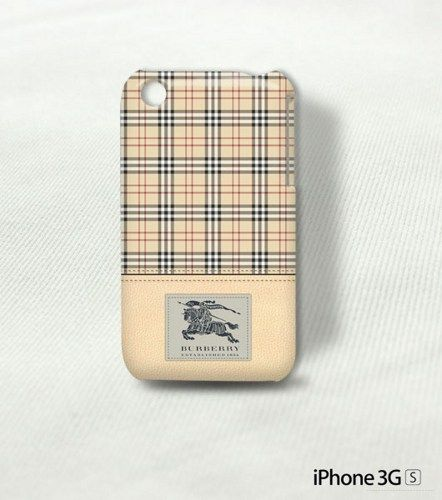 Burberry London Brown Leather Print Patterni Phone 3 3G Cover Case | storephonecase - Accessories on ArtFire