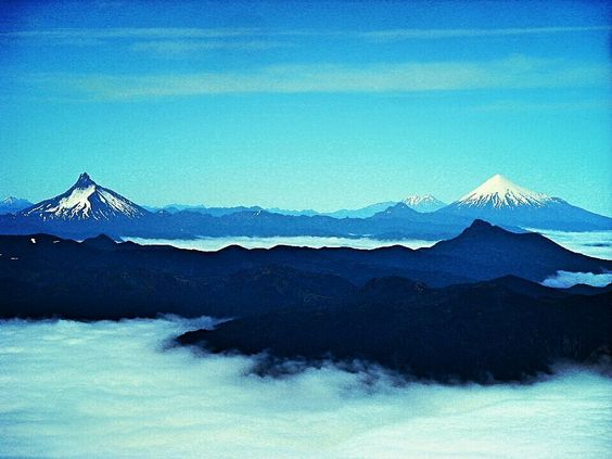 Feeling like a god. Looking at Osorno in Chile