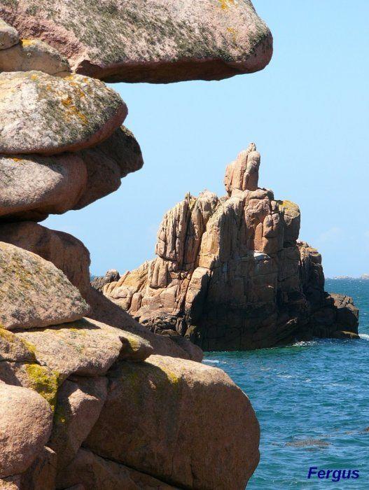 Rochers дю Paon - остров на Bréhat: