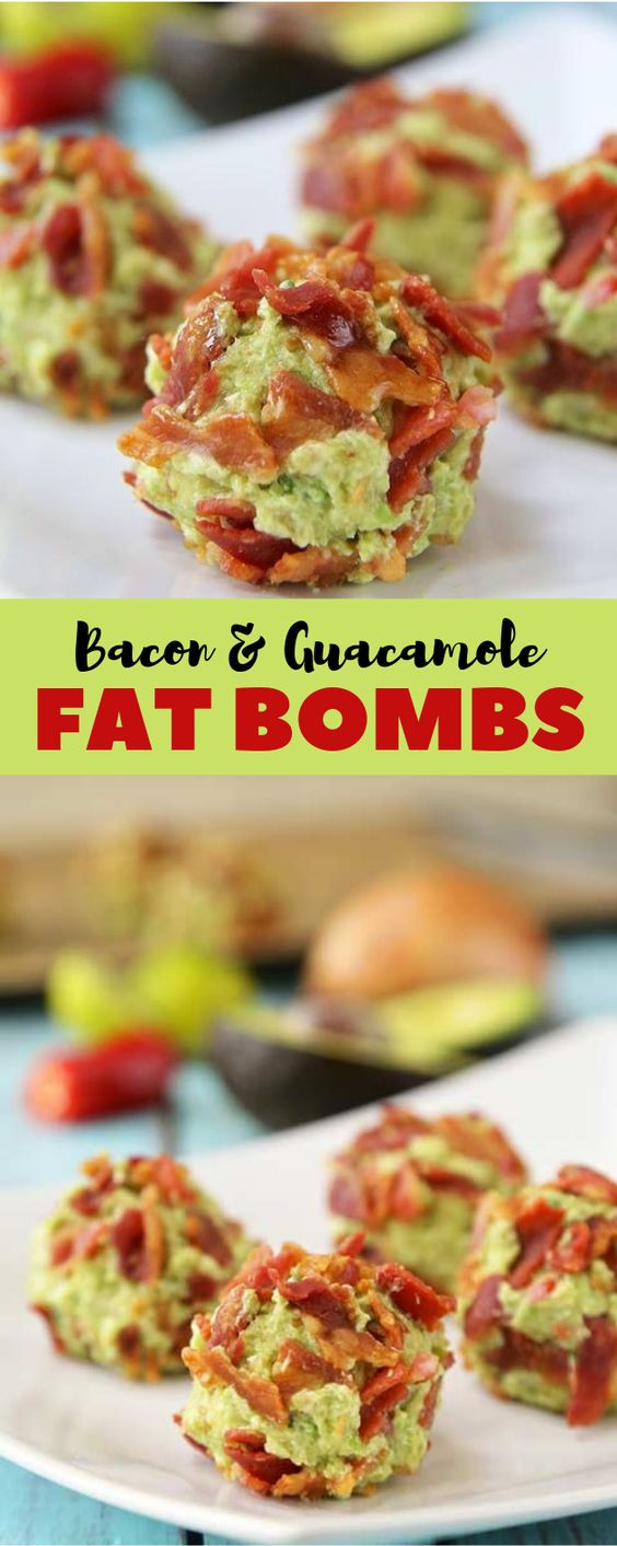 Bacon Guacamole Fat Bombs