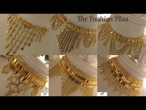 Saudi Gold Heavy Jewellery Designs Collection Youtube Gold Choker Necklace Gold Necklace Designs Gold Choker