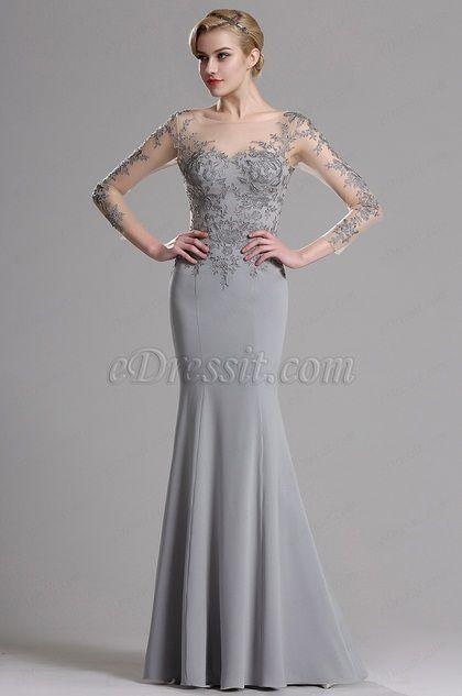 جمال المرأة: Sleeves Floral Mermaid Dress
