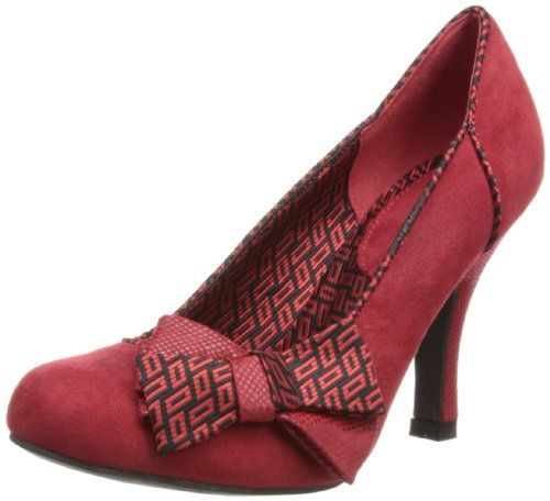 Shoes - Women&39s Ruby Shoo Claudia Red Mid Heel Court Shoe UK 7