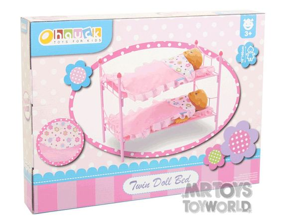Hauck Spring Pink Doll Bunk Bed Mr Toys Toyworld Online