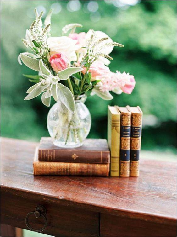 Livros e flores!