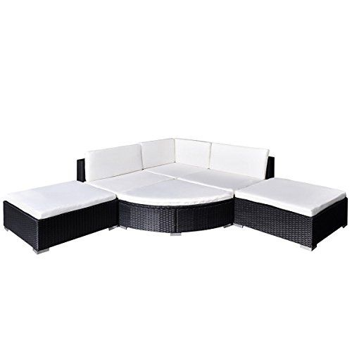 6pc Outdoor Rattan Wicker Sofa Patio Sectional Couch Deck Furniture W Storage Black Be Sure To Sectional Patio Furniture Furniture Sofa Set Patio Sofa Set