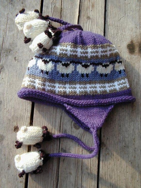 Bleu moutons Hat enfant