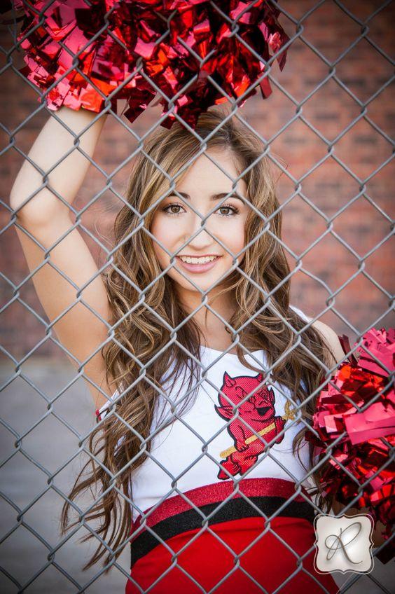 Senior Picture Ideas for Girls | Cheerleader | Click this link to follow my Senior GIRLS board for inspiration at https://www.pinterest.com/JillLevenhagen/ | #seniorpictureideasforgirls