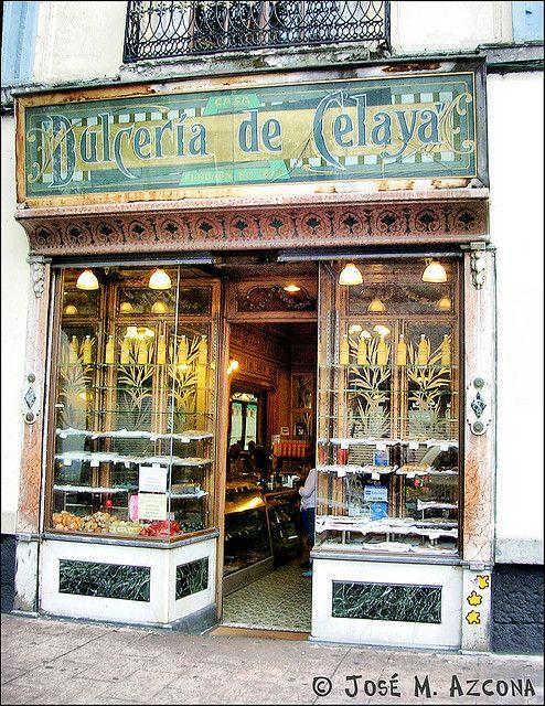 Dulcería de Celaya (opened in 1874), Mexico City, Mexico.Entras a comprar y te encuentras con un misterio ¿cuál?