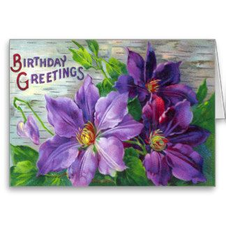 victorian birthday cards for dad | Vintage Victorian Floral Birthday Day Card