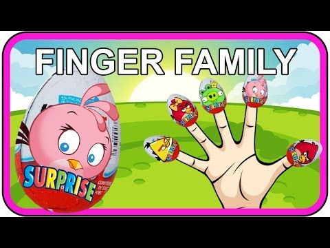 awesome Finger Family Angry Birds Kinder Surprise Eggs Nursery Rhymes Children Angry Birds