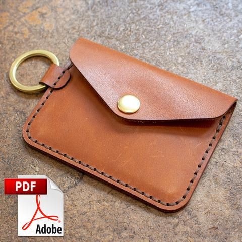 Keychain Snap Wallet Digital Template Set A4 Leather