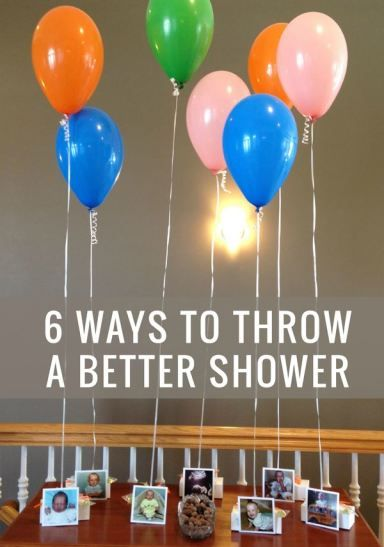 non traditional tips to throw a baby shower or wedding shower that