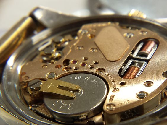 Movement from an Omega watch.