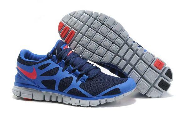 Mens Nike Free Run 3.0 V3 Blue Red Shoe Just Buy It