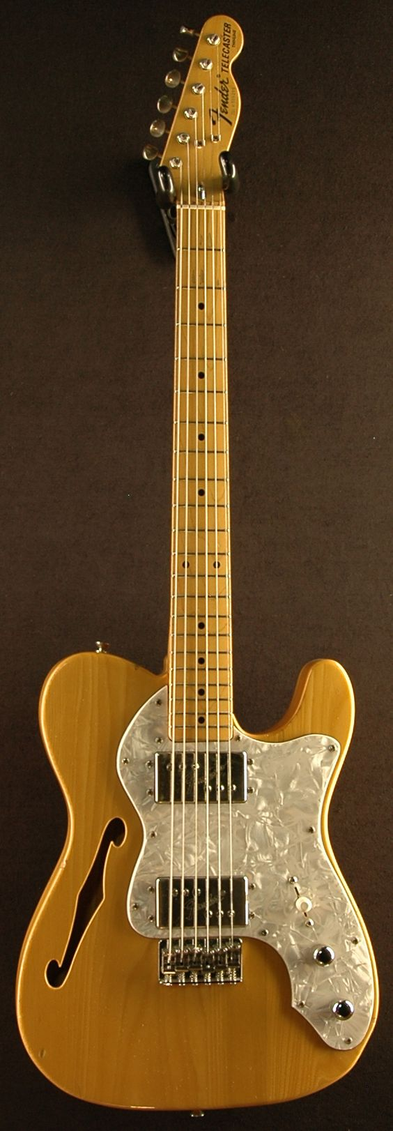 1968 Fender Thinline Telecaster; one of a very limited family of instruments that warrant the use of the Humbucker Style pickup.