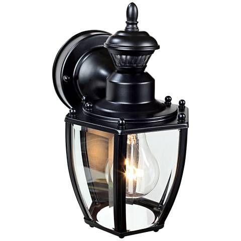 Coach Black 10 3 4 H Motion Sensing Outdoor Wall Light 1x268 Lamps Plus Outdoor Wall Lighting Outdoor Wall Sconce Outdoor Wall Lantern